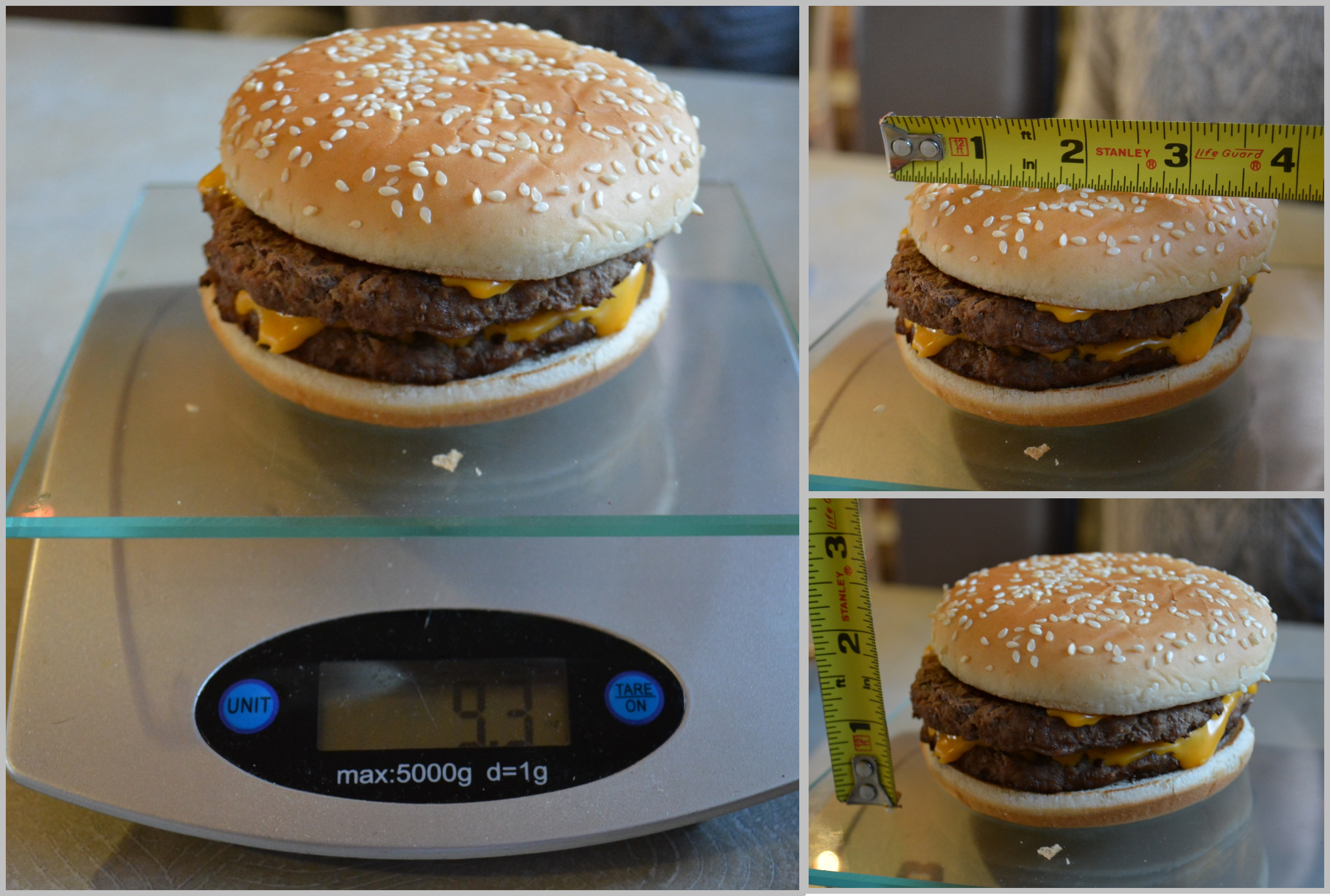 McD Double Quarter Pounder Stats